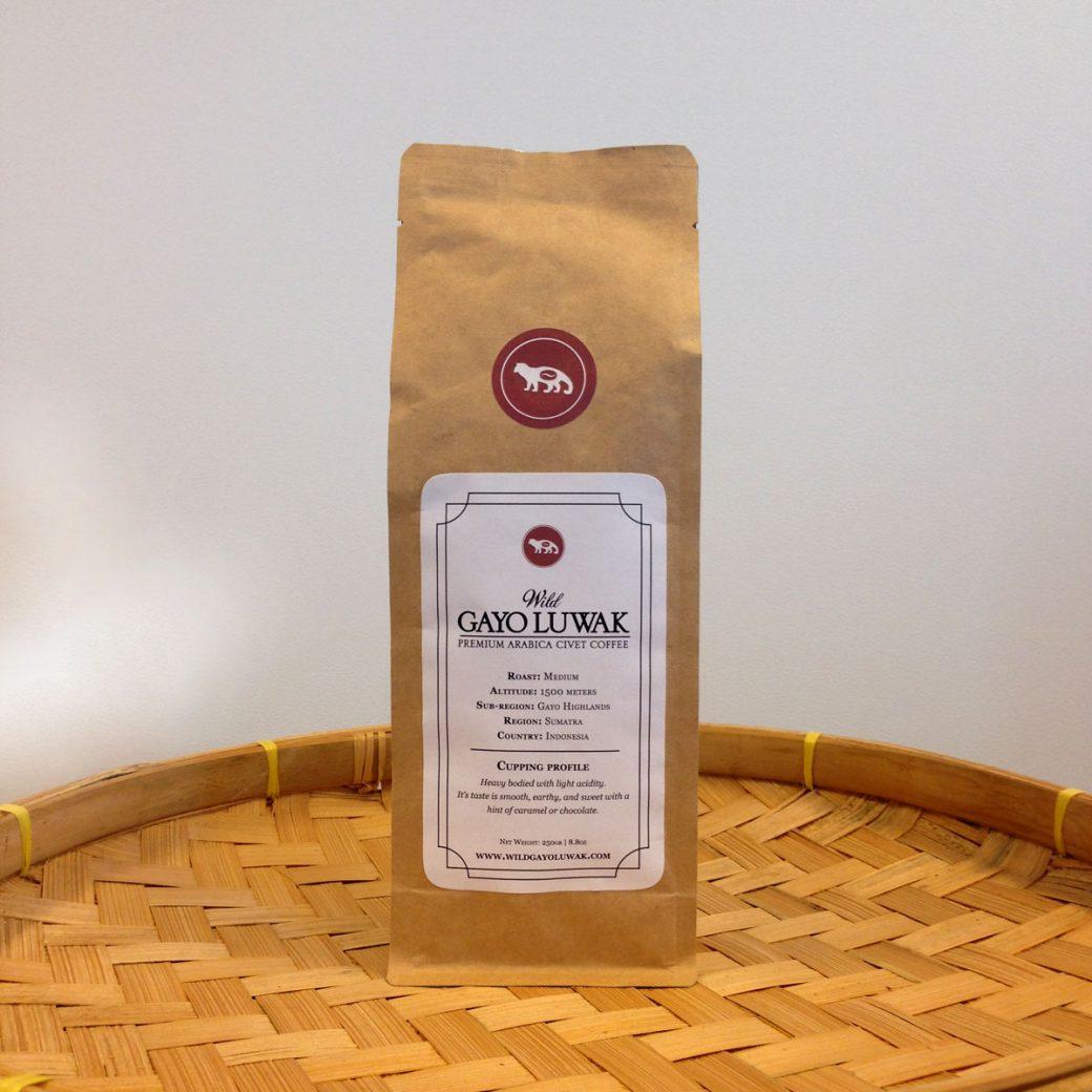 Wild Kopi Luwak arabica coffee beans