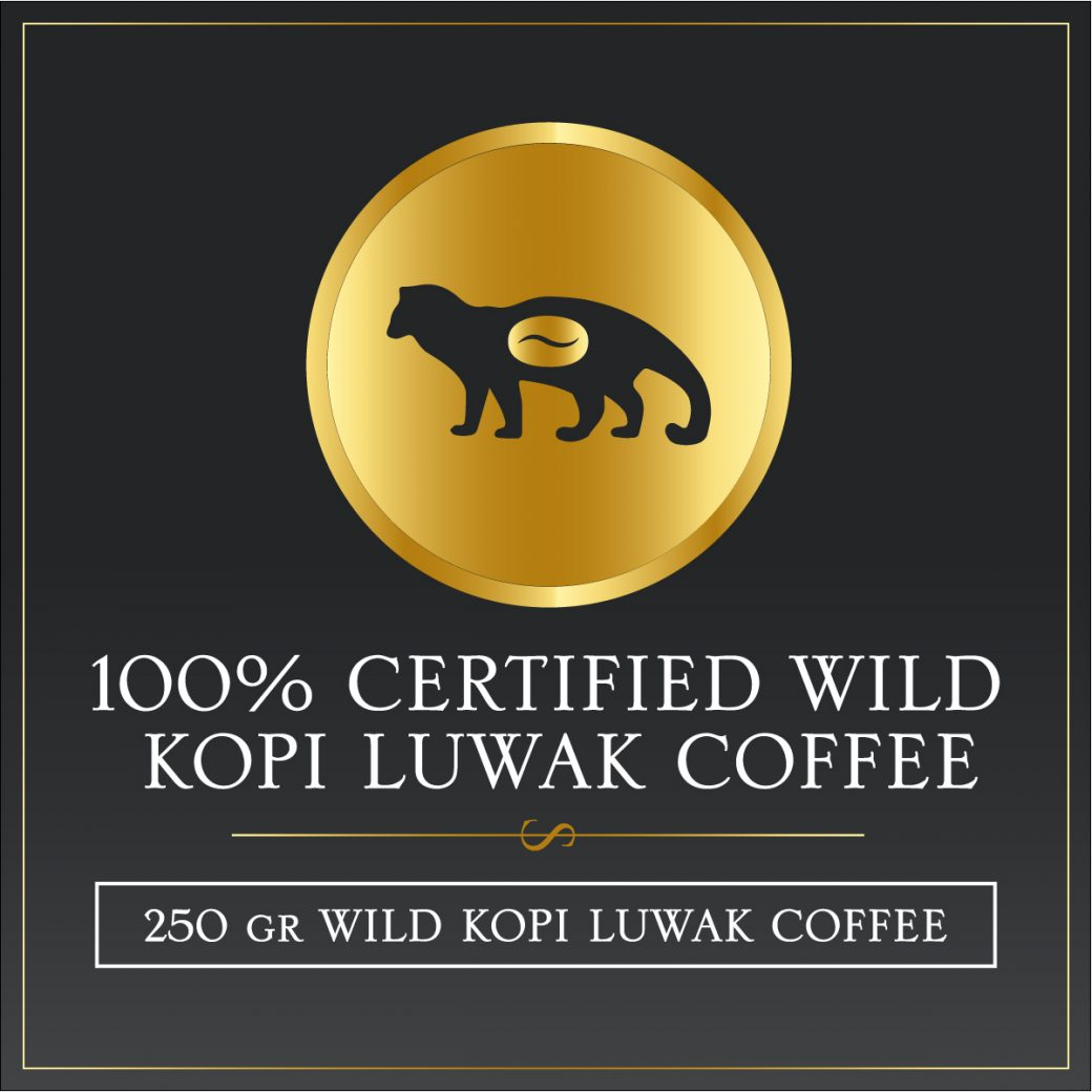 250 grams certified wild kopi luwak gayo arabica coffee