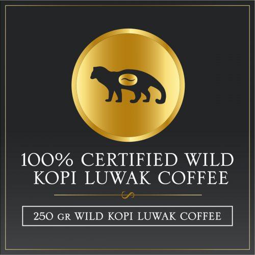 250 grams certified wild kopi luwak gayo arabica coffee