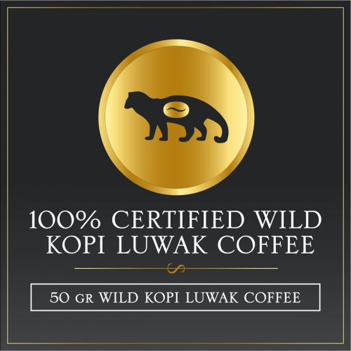 50 grams certified wild kopi luwak gayo arabica coffee